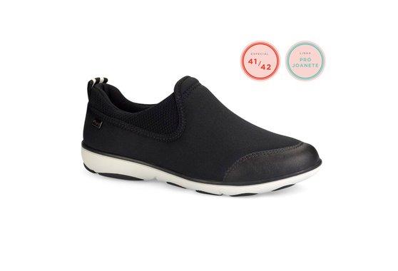d34661ebe Tênis para Joanete Feminino - Preto | Pé Relax Sapatos Confortáveis