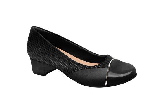 Sapato Social Feminino para Joanete - Preto Snake