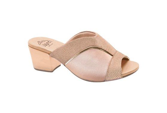 70d20f6ca Tamanco Mule para Joanete - Bege | Pé Relax Sapatos Confortáveis