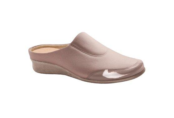 5942e12e0 Babuche Feminino para Joanete - Sépia | Pé Relax Sapatos Confortáveis