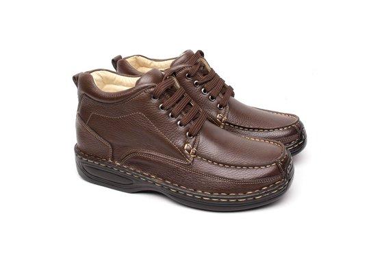 4ddc4ca6c Bota Masculina Couro - Marrom | Pé Relax Sapatos Confortáveis