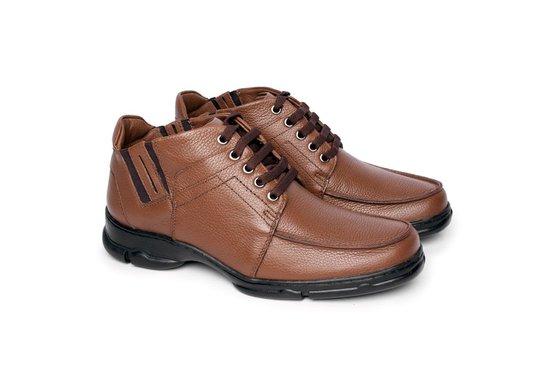 8783751a7 Botinha Masculina Couro - Chocolate | Pé Relax Sapatos Confortáveis