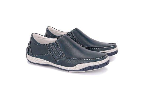 e86faaa5d Sapato Mocassim Masculino - Azul | Pé Relax Sapatos Confortáveis