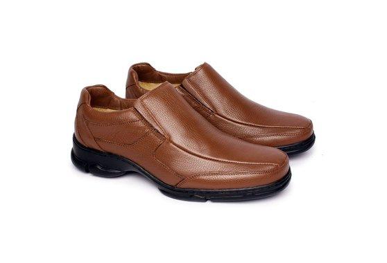fa909d2f8 Sapato Masculino Couro - Marrom | Pé Relax Sapatos Confortáveis