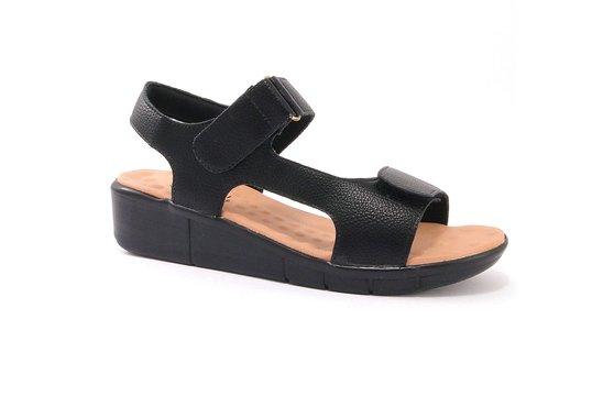 Sandália para Pé Alto - Preta / Bege
