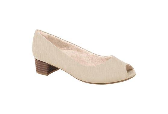 224e9fc44 Peep Toe Confortável - Bege | Pé Relax Sapatos Confortáveis