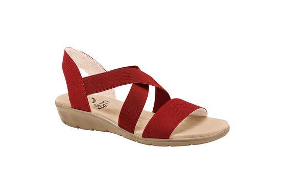 4cc414ca9 Sandália Confort Feminina - Vermelha | Pé Relax Sapatos Confortáveis