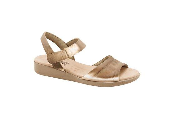 741731093 Sandália Feminina Anatômica - Bronze | Pé Relax Sapatos Confortáveis