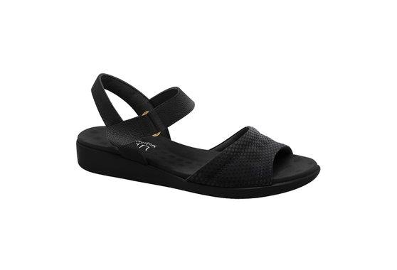 0e7520cc3 Sandália Feminina Anatômica - Preta | Pé Relax Sapatos Confortáveis