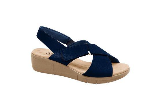Sandália Ortopédica Feminina - Azul Marinho