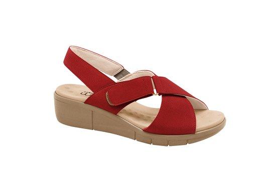 a8f9d3545 Sandália Ortopédica Feminina - Vermelha | Pé Relax Sapatos Confortáveis