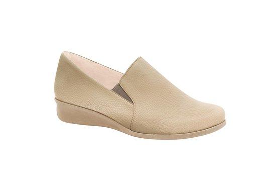6a80aaf07 Sapato Feminino Anatômico - Bege | Pé Relax Sapatos Confortáveis