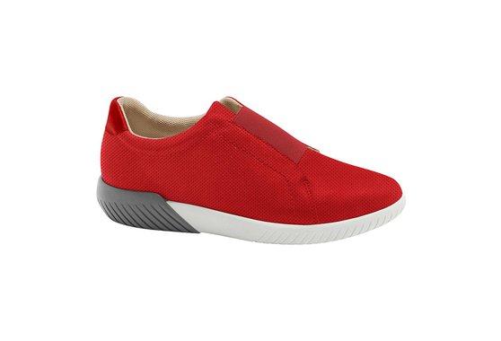 630a42b48 Tênis Casual Feminino - Vermelho | Pé Relax Sapatos Confortáveis