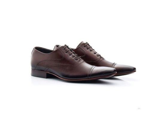 7c5610fbb Sapato Oxford Masculino Marrom | Pé Relax Sapatos Confortáveis