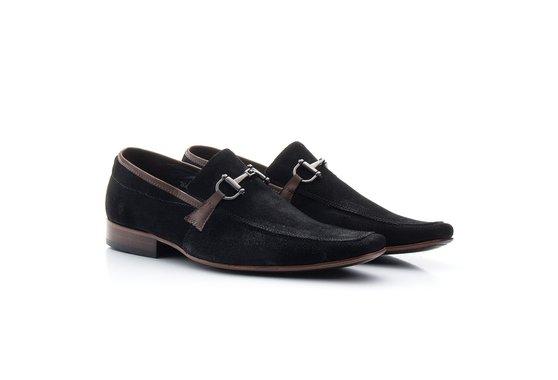 Sapato Masculino Casual Nobuck Preto