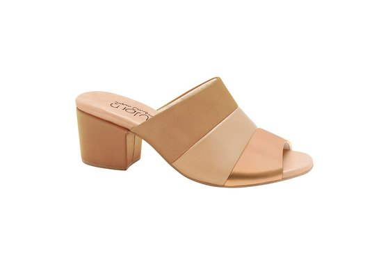 7e7ff4d636 Tamanco Mule Feminino - Marrom / Bege / Rose Gold | Pé Relax Sapatos ...