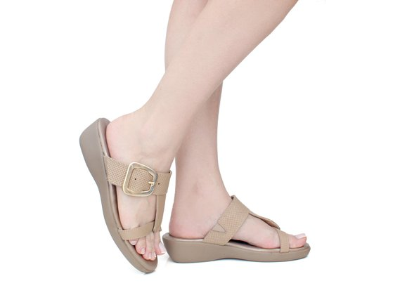 Chinelo Feminino Anatômico - Light Tan