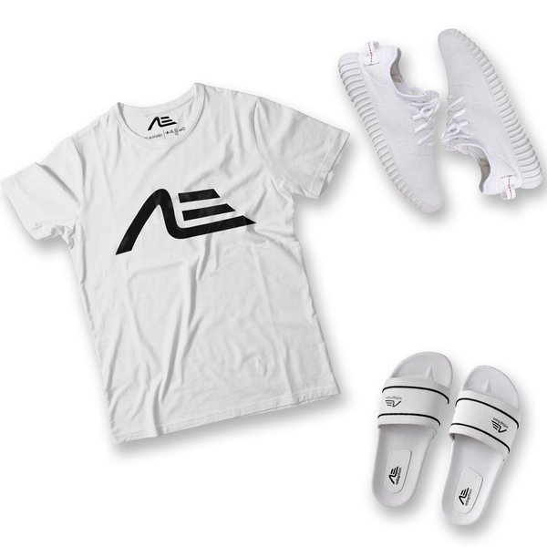 Kit Camiseta Tênis e Chinelo Adaption Branco