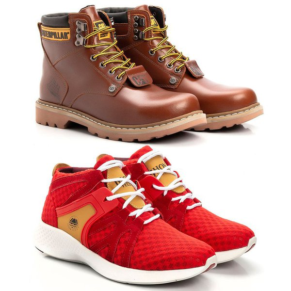 Kit Bota Caterpillar Second Shift Pullap + Tênis Jhon Boots Yeezy 360°