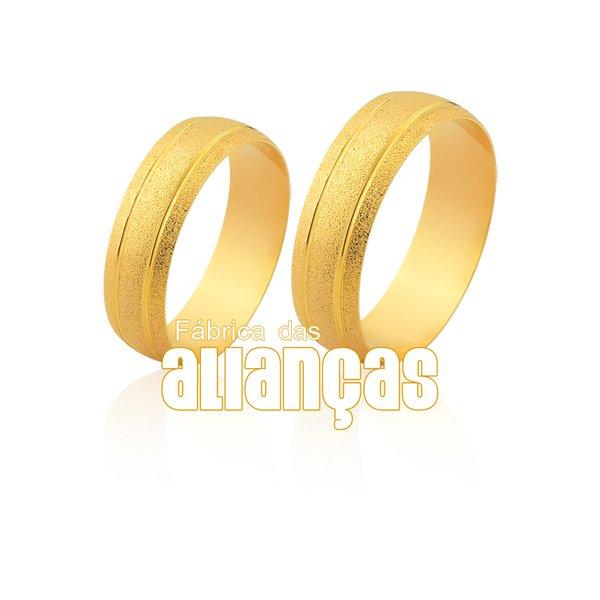 Alianças de Noivado e Casamento em Ouro Amarelo 18k