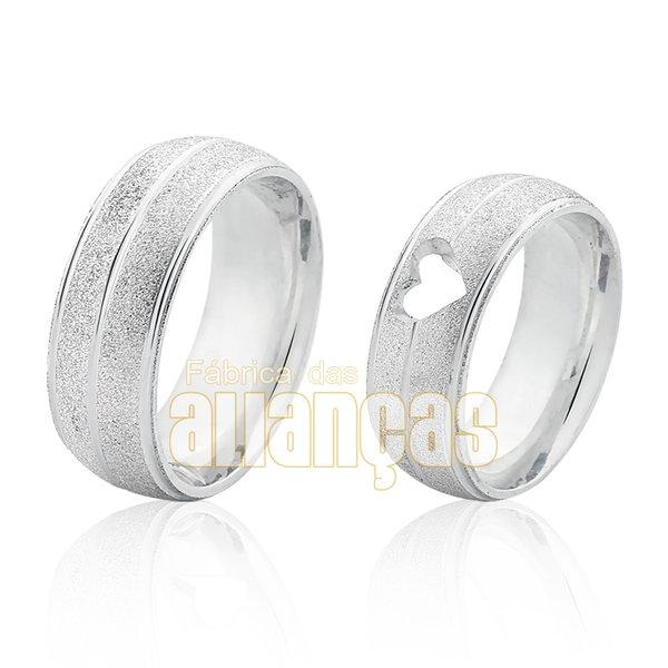 Alianças de Compromisso em Prata 0,950 M-AG-1150