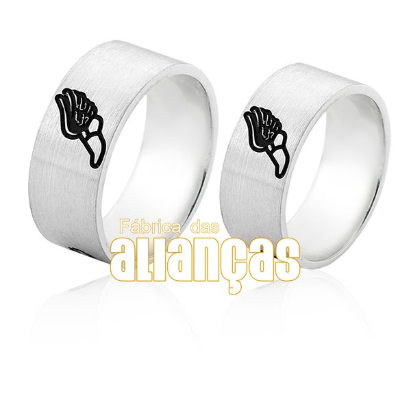 Aliança em Prata 0,950 k Personalizada