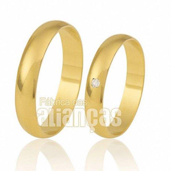 Alianças de Noivado e Casamento em Ouro Amarelo