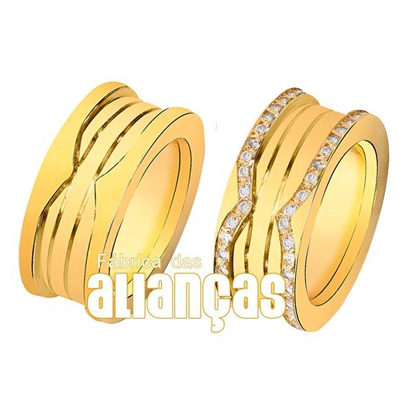Alianças de Ouro Amarelo 18k 0,750