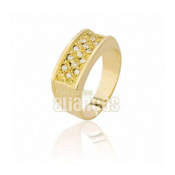 Anel Feminino em Ouro Amarelo 18k 0,750 AN-101