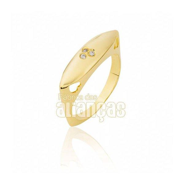 Anel Feminino em Ouro Amarelo 18k 0,750 AN-103