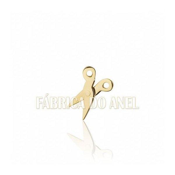 Boton de Formatura de Cabeleireiro em Ouro Amarelo 18k 0,750 B-216