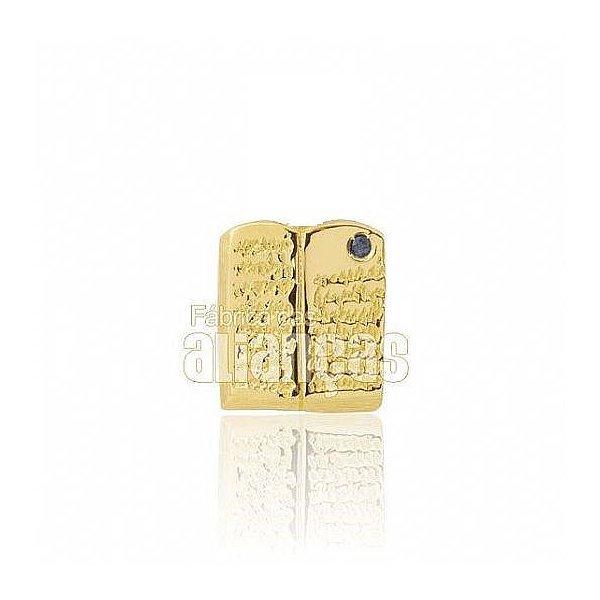 Boton de Formatura de Pedagogia em Ouro Amarelo 18k 0,750 B-221