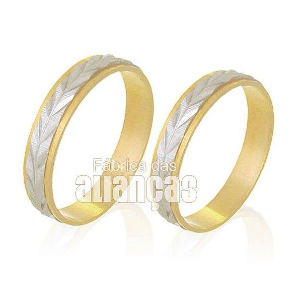 Alianças de Bodas em Ouro Amarelo 18k 0,750 FA-228