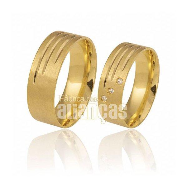 Alianças de Casamento Anatômica Ouro Amarelo 18k