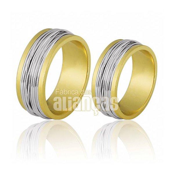 Fotos de Alianças de bodas em ouro 18 k