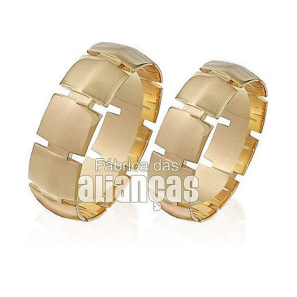 Aliança de ouro 18k personalizada