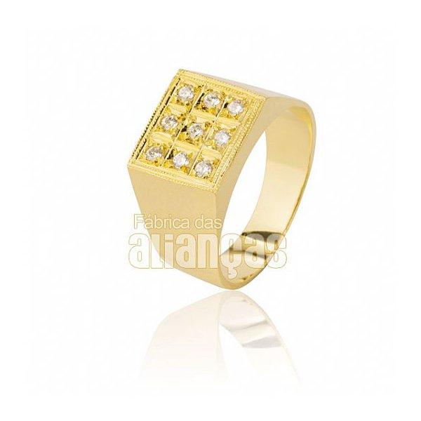 Anel Masculino em Ouro Amarelo 18k 0,750 A-02