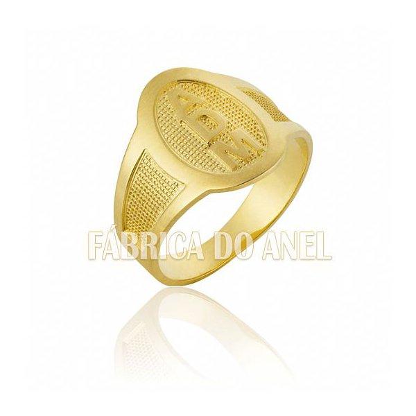 Anel Masculino em Ouro Amarelo 18k 0,750 A-10
