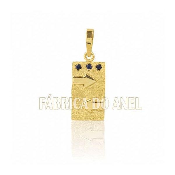 Pingente de Formatura de Publicidade em Ouro Amarelo 18k 0,750 P-36