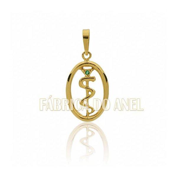 c3033cbacd7b7 Pingente de Formatura de Medicina em Ouro 18k 0