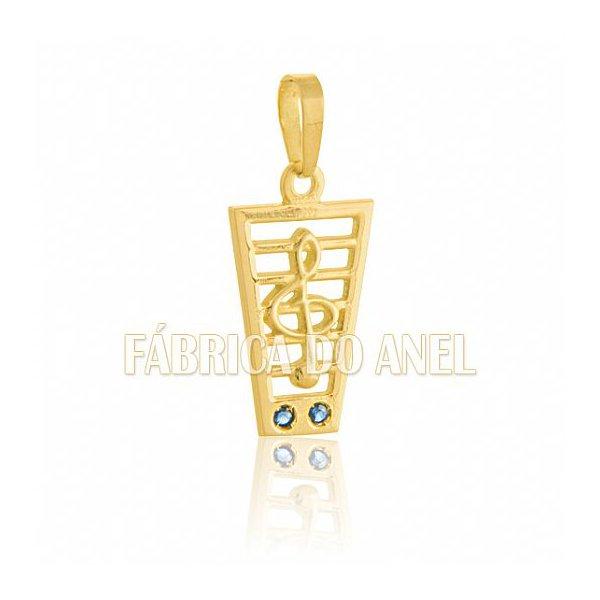 Pingente de Formatura de Músico em Ouro Amarelo 18k 0,750 (Sol) P-47