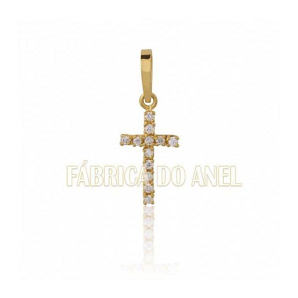 Pingente Exclusivo de Crucifixo em Ouro Amarelo 18k
