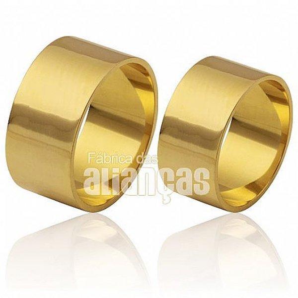 Alianças de casamento 18k com 10,00 mm