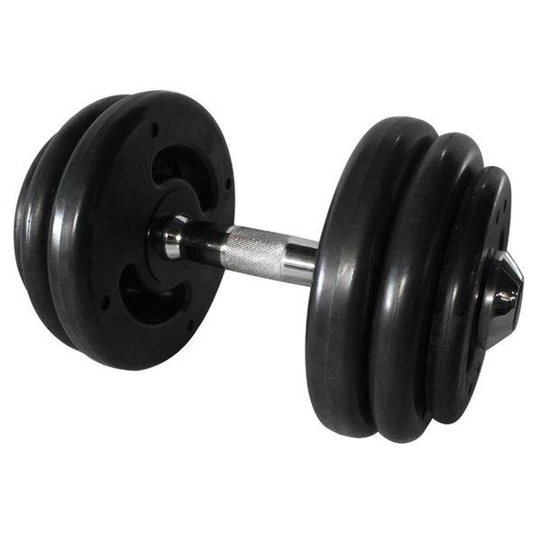 Dumbbell Injetado com pegada cromada 28 kg