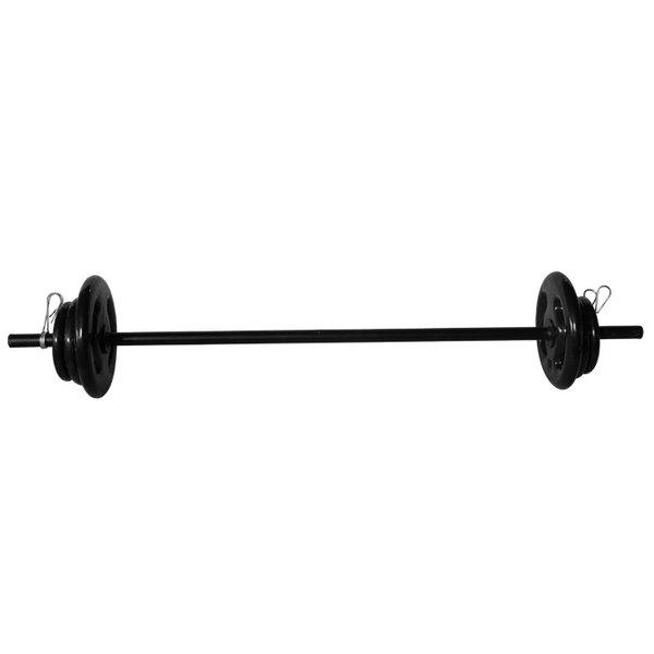 Kit Barra Pump 1,20 m - Anilhas Emborrachadas - 16 kg