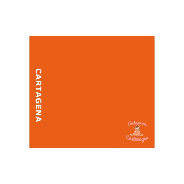 COLOR PLUS CARTAGENA ( TANGERINA) - 1 FOLHA A3