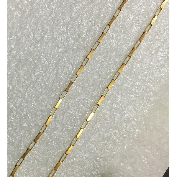 CO-09-Corrente de Ouro 18k Veneziana 1,5mm-50,0cm-4,40g