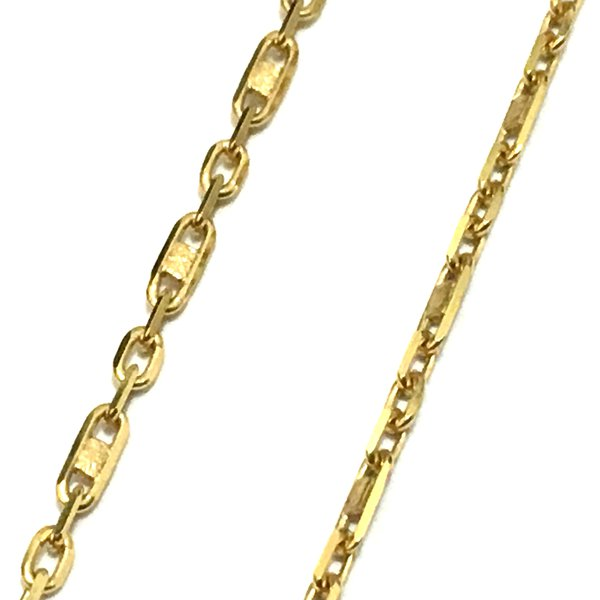 CO-15-Corrente Ouro 18k Cartier Piastrini 1,6mm-45,0cm-3,40g