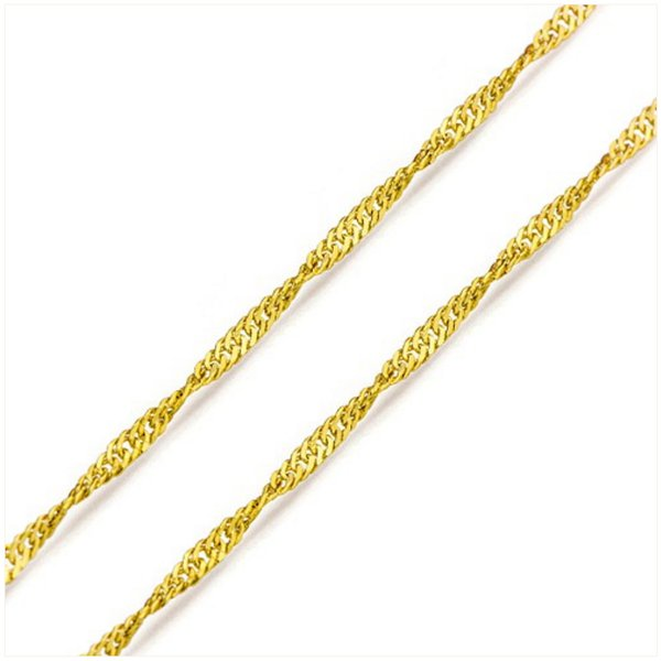 CO-02-Corrente de Ouro 18k Singapura de 1,0mm-45cm-1,20g