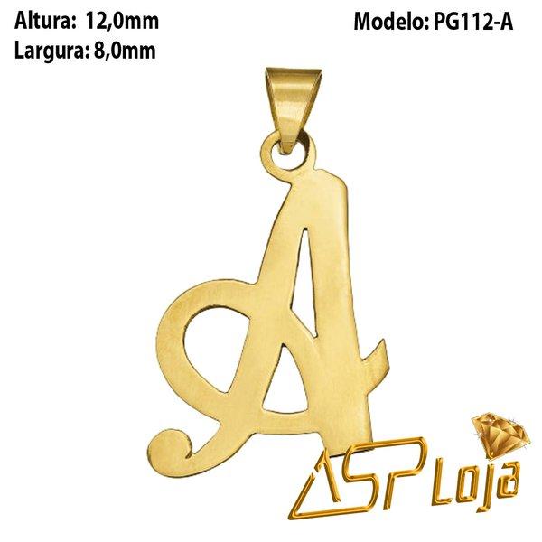 Pingente de Ouro 18K Letra A Manuscrito - PG112-A